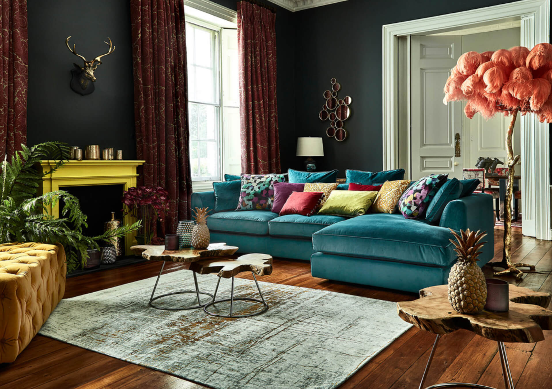 Maximalist living room