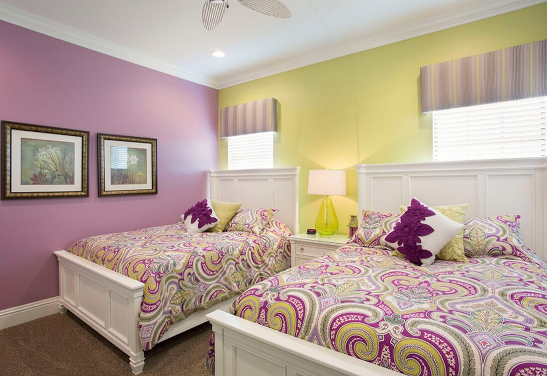 Multiple Accent Colors Matching Beds
