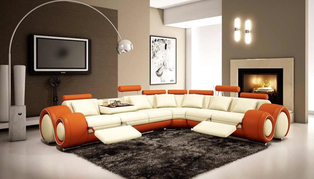 Sectional Sofa Designs Geometric Style