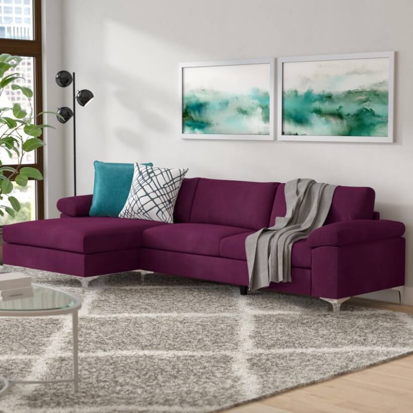 Sectional Sofa Designs Purple Sofa