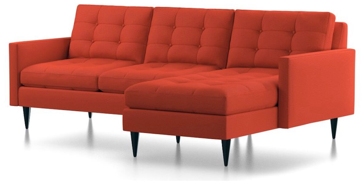 Sectional Sofa Designs Red Color