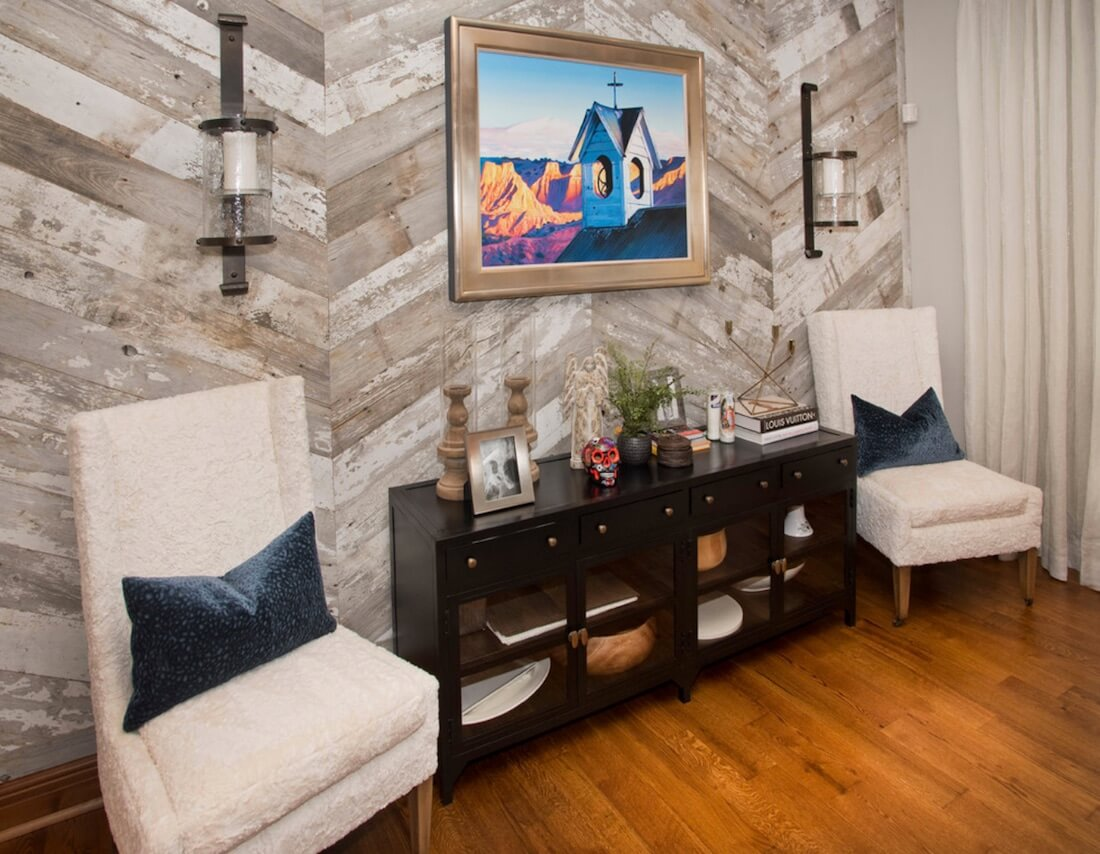 Wood Paneling Accent Wall Reclaimed