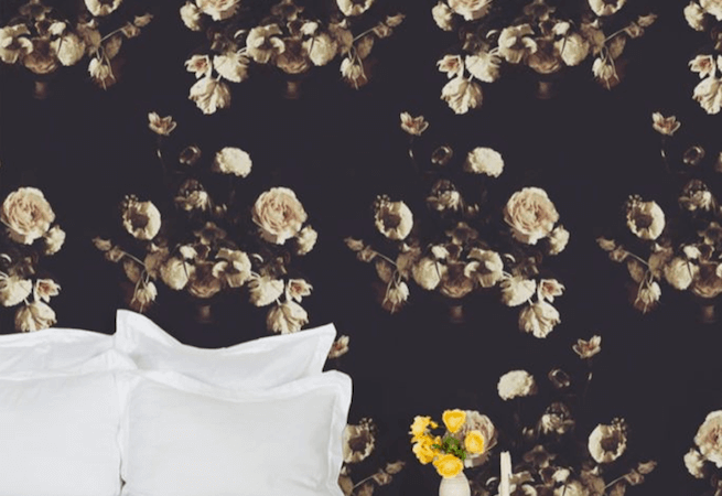 Ashley Woodson Bailey's Wallpaper Brings Moody Florals Home