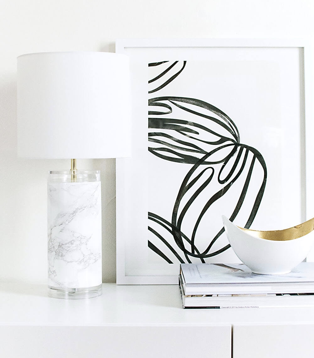 marble lamp