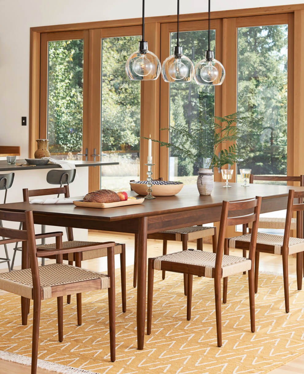 Use Matching Rugs For An Adjacent Dining Room Image Rejuvenation