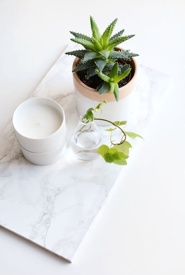 marble contact paper tray