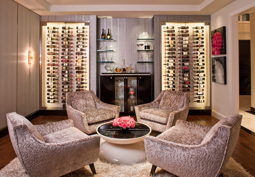 Turn A Sitting Room Into Wine Tasting By Adding Vertical Storage And Bar To The Area Image Vintage View