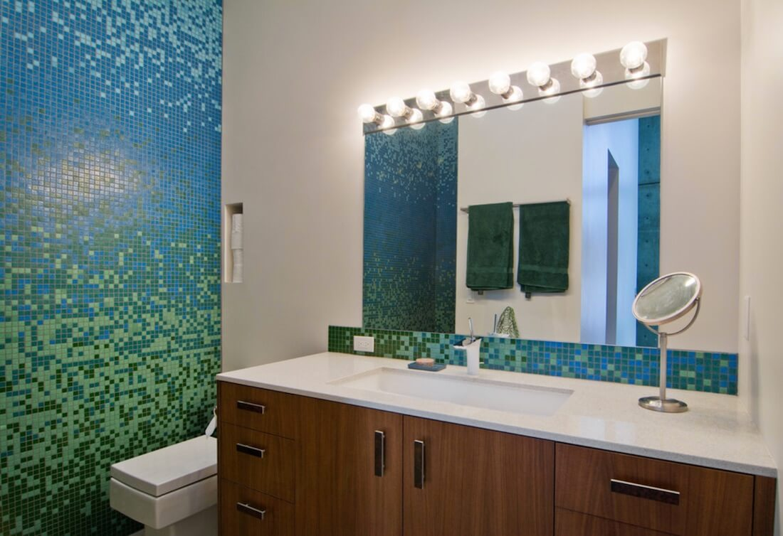 Bold Colors Bathroom Tile