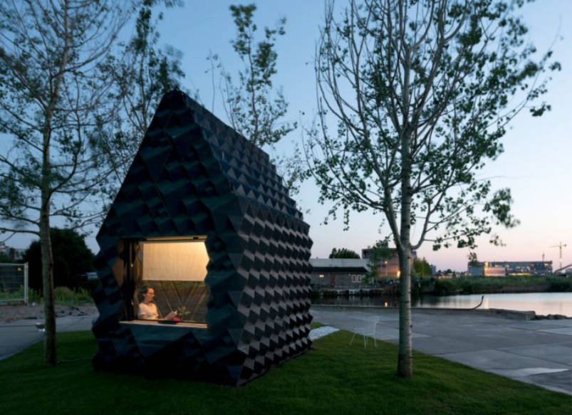recyclable 3d-printed houses