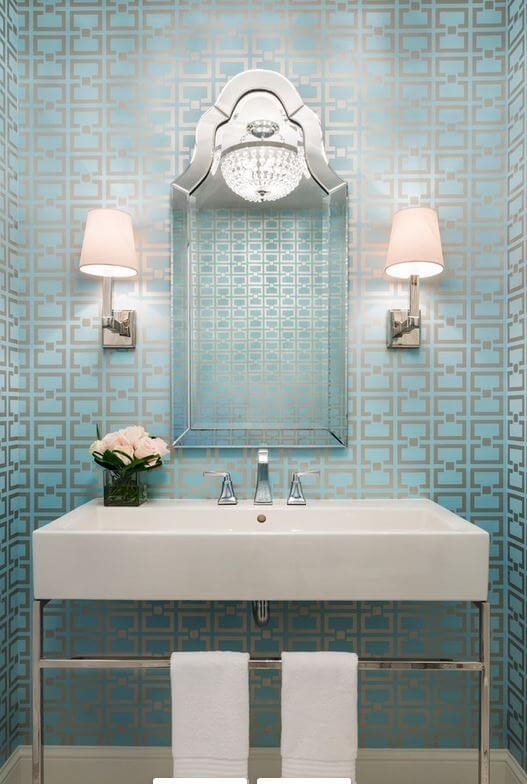 . Think Wallpaper is Outdated  It Can Actually Update Your Bathroom