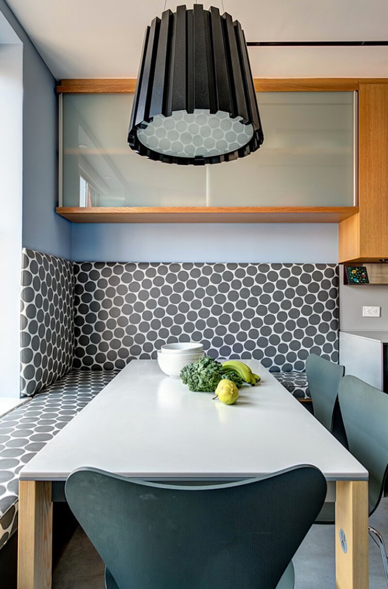 Polka-Dot Designs Breakfast Nook