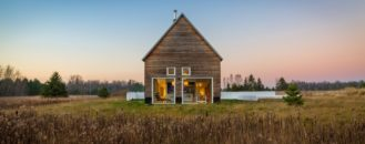 Small Cedar Home Reigns Over Farm-Field Landscape