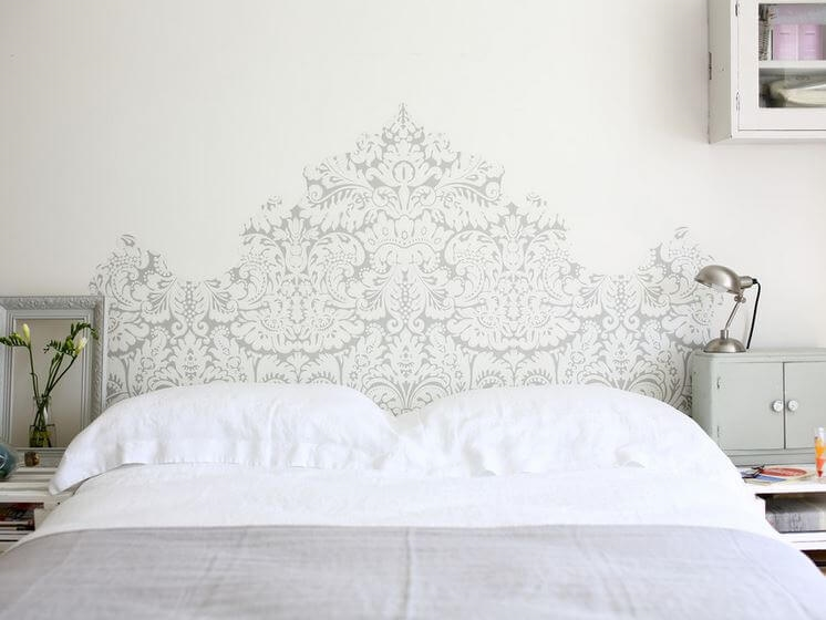 wallpaper headboard