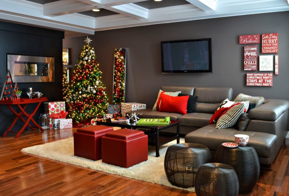 Holiday Wall Decorations Mirror Design