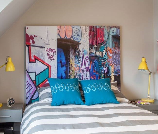 graffiti headboard