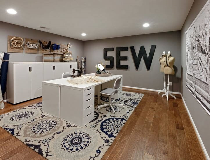 woman caves craft room