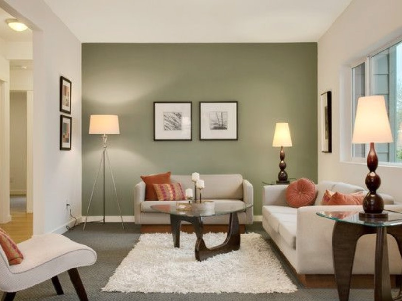 decorating with olive color paint