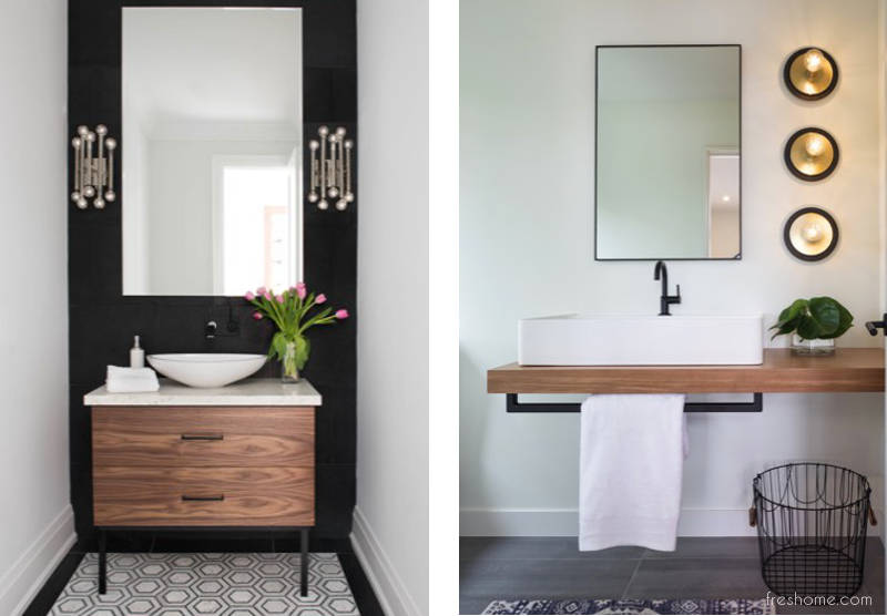 50 powder room ideas that transform your small half bath - Small powder room designs ...