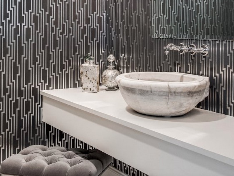 Lovely Wallpaper Your Powder Room Walls