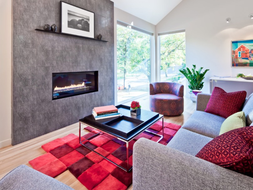 how to decorate with red