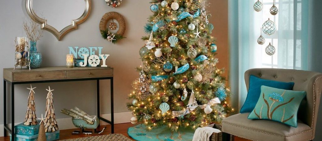 Get a Nautical Holiday Theme Using Blue and White