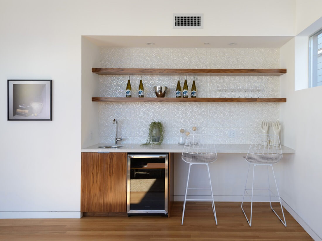 Home Bar Shelving on Wall