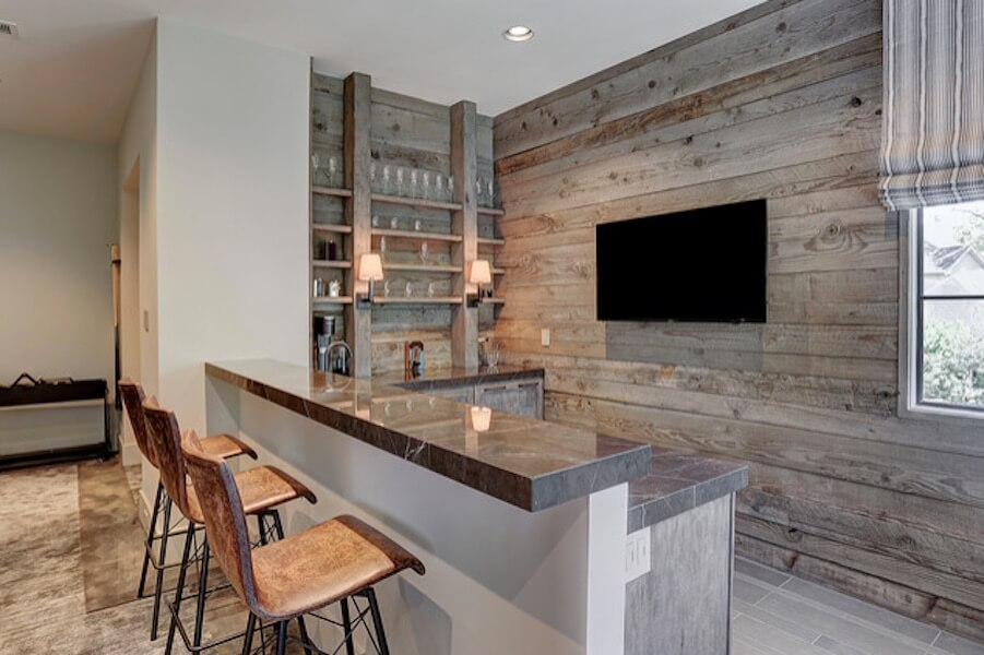 Home Bar Wood Wall