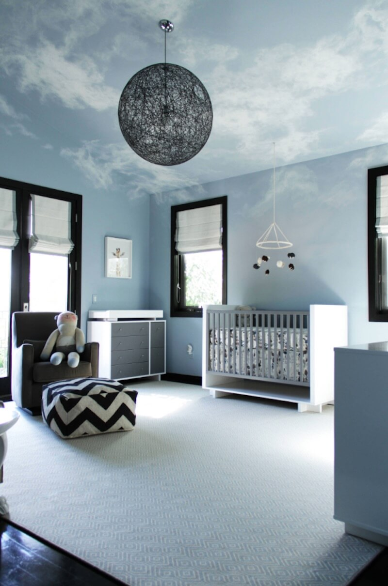 Interior Skyscapes Nursery Space