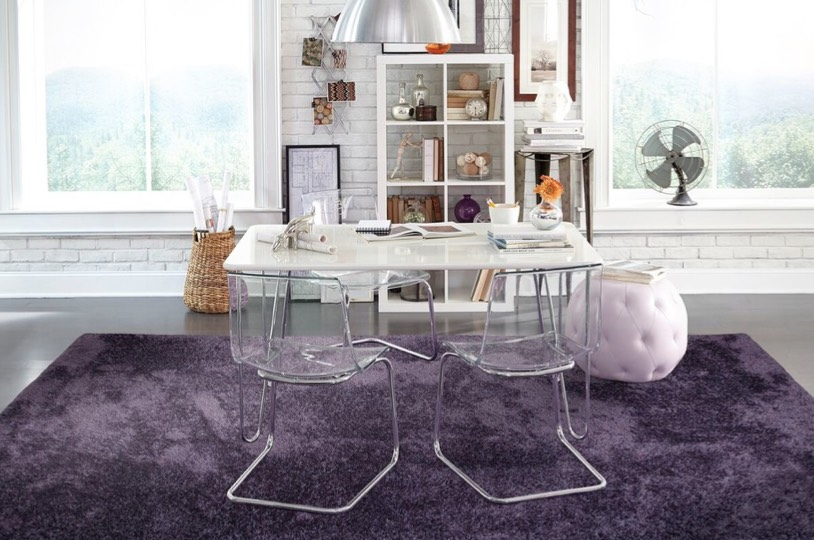 purple home office