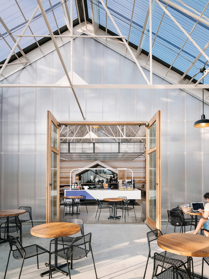 A look inside this contemporary cafe