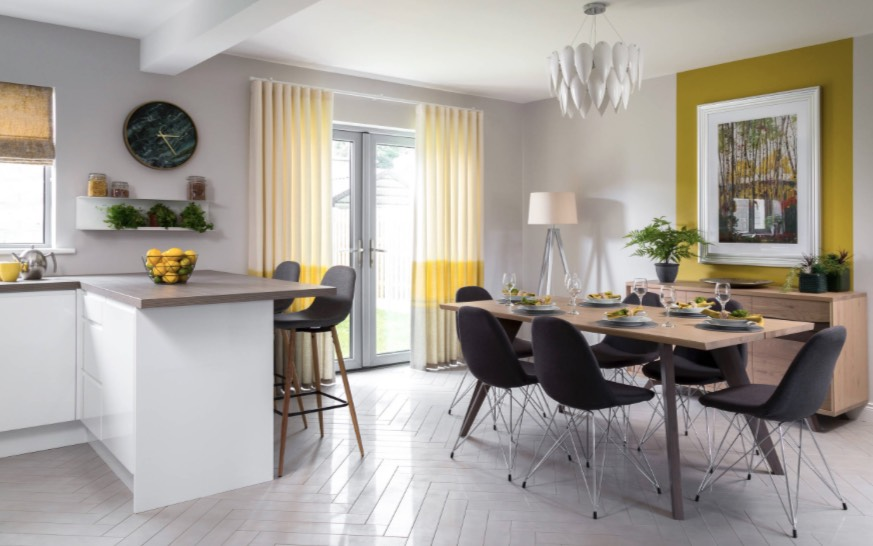 decorating with yellow accents