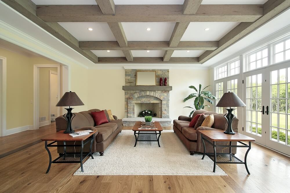living room ceiling beams 5