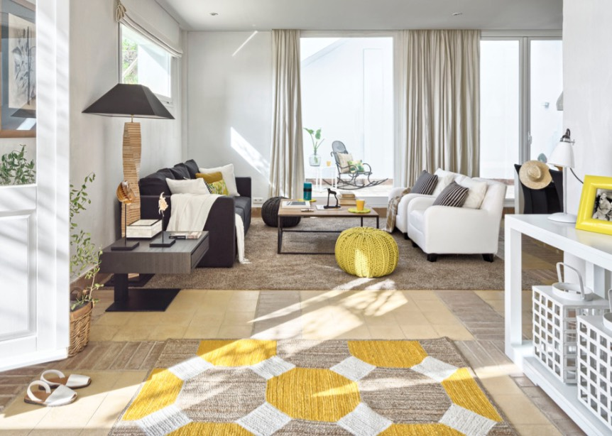 decorating with yellow home accents