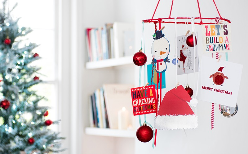 christmas card hanging ideas