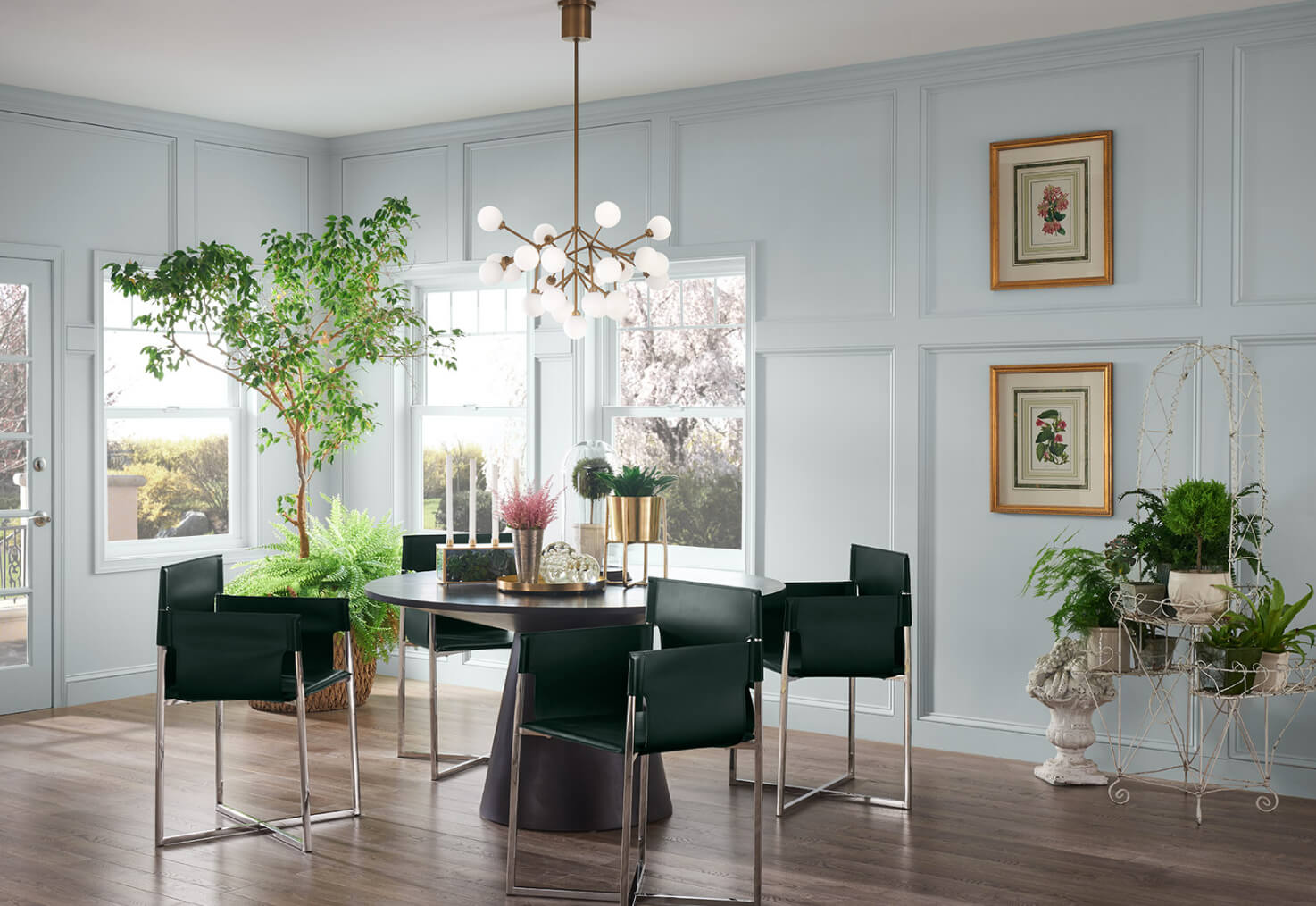 Sherwin Williams Blue Dining Room