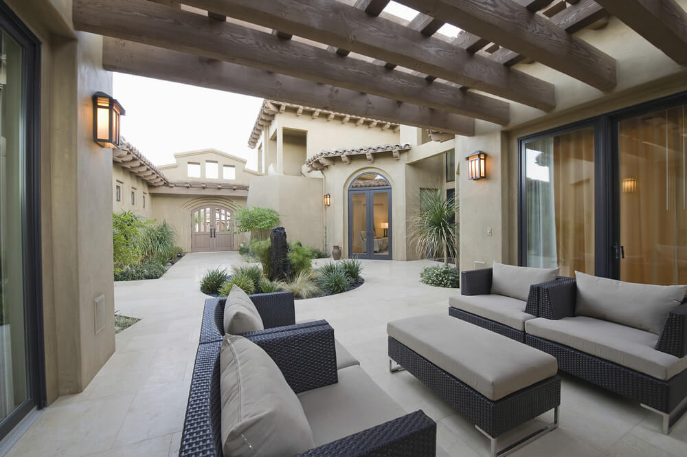 outdoor ceiling beams