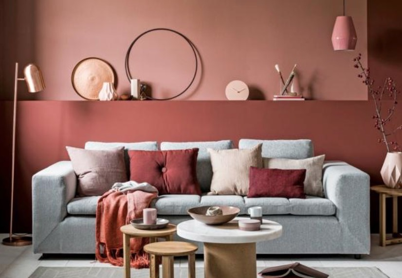 decorating with terracotta and salmon