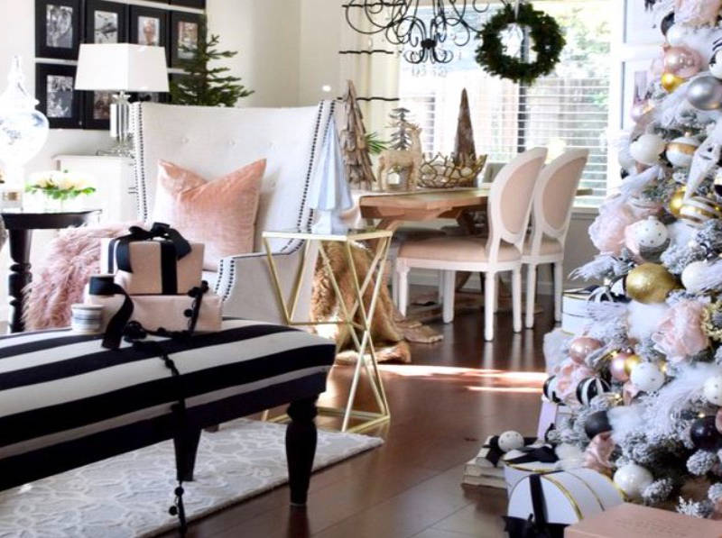 new concept f7897 2016a Millennial Pink Christmas Ideas and Decor for a Blush-Worthy ...