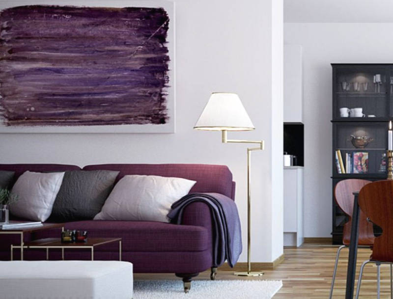purple decorating ideas for the living room