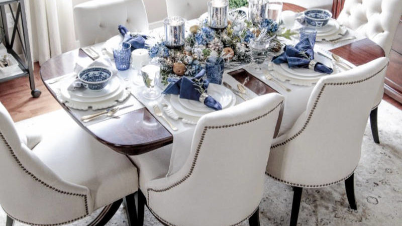 Indigo Decorating Ideas and Products for a True Blue Holiday Table