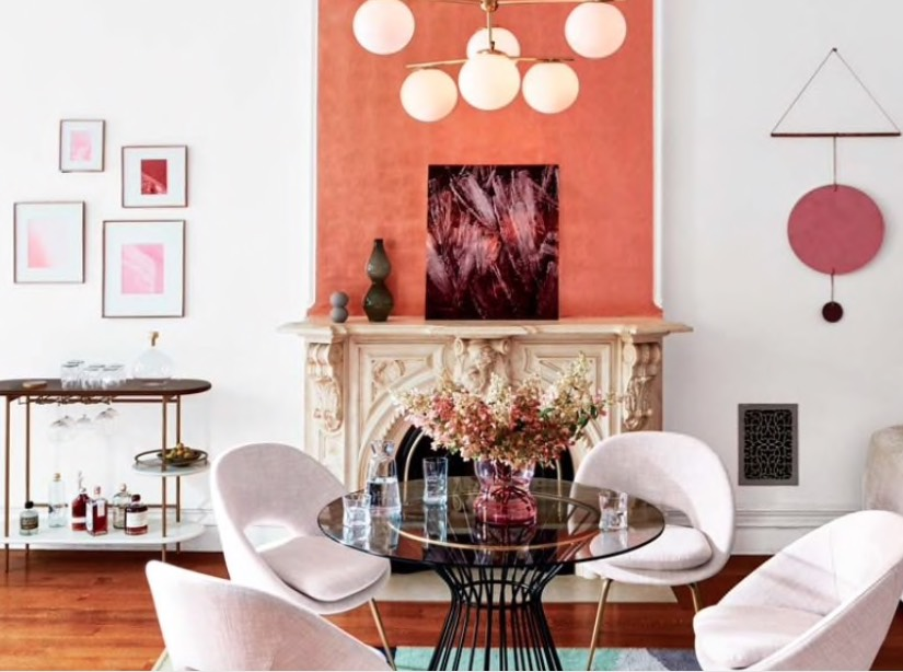 decorating with orange and terracotta paints