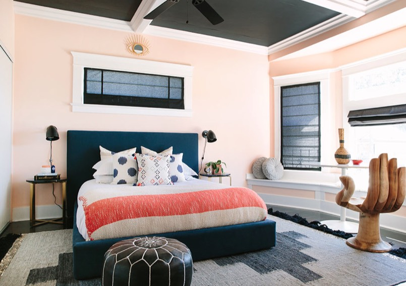 apricot bedroom ideas