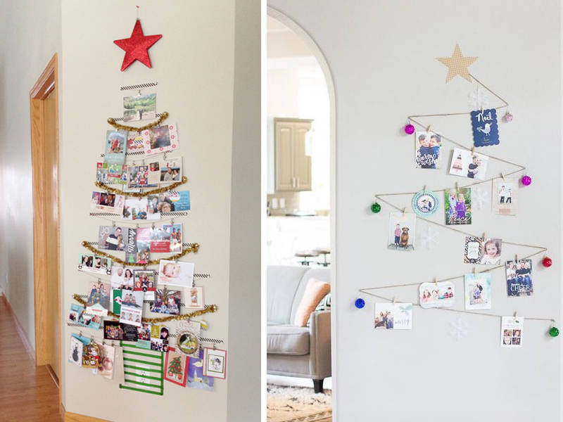 christmas card wall decorating ideas