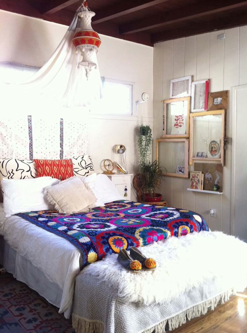 Boho Style Cover on Bed