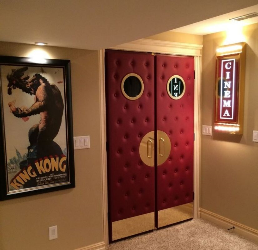 home theater door