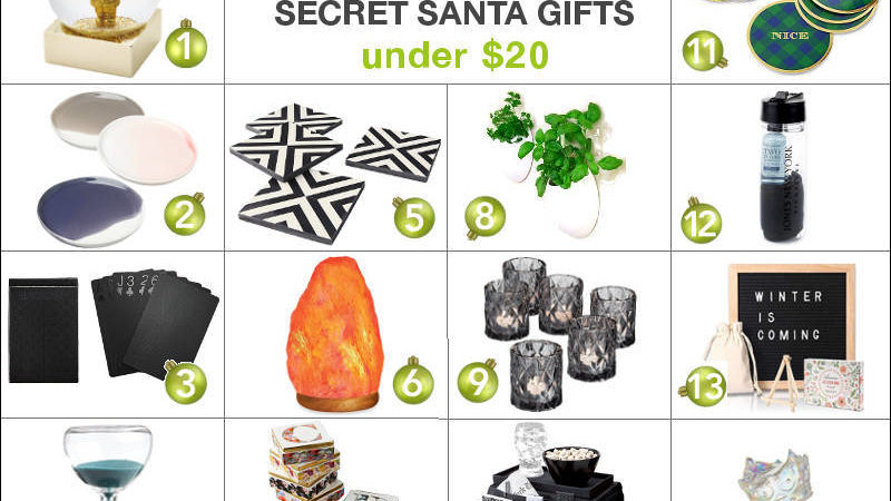 Freshome Gift Guide: Gift Exchange Or Secret Santa Gifts Under $20
