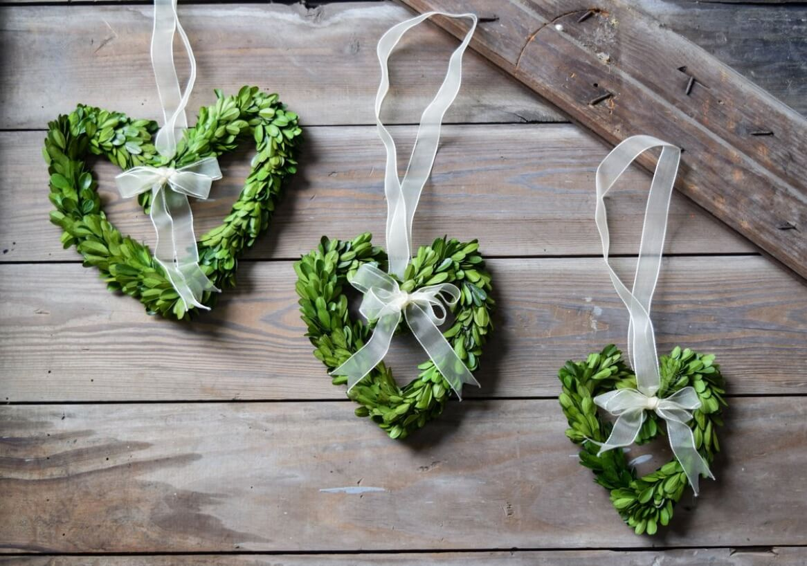Valentine's Day Wreaths Foliage Hearts