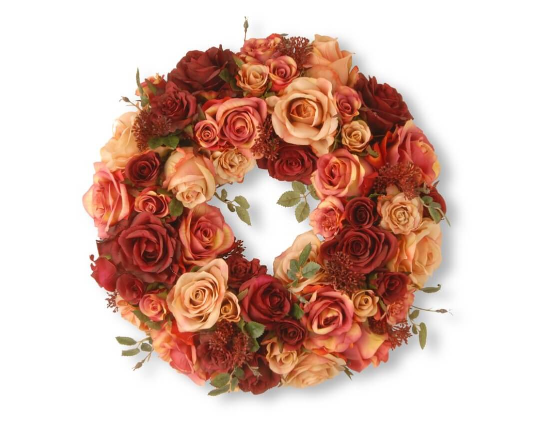 Valentine's Day Wreaths Light Rose Shades