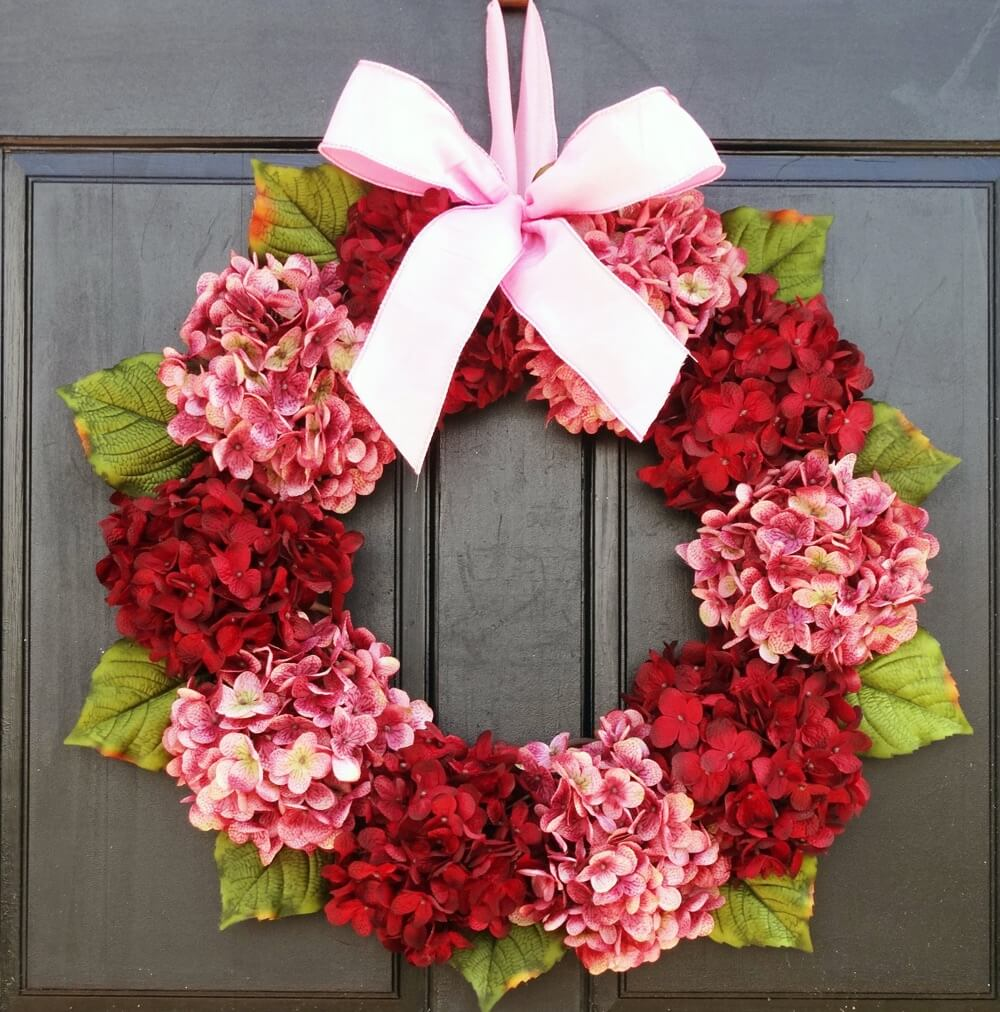Valentine's Day Wreaths Pink and Red Flowers