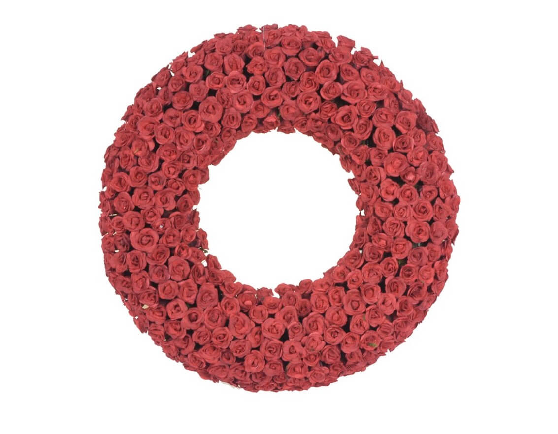 Valentine's Day Wreaths Pink Roses